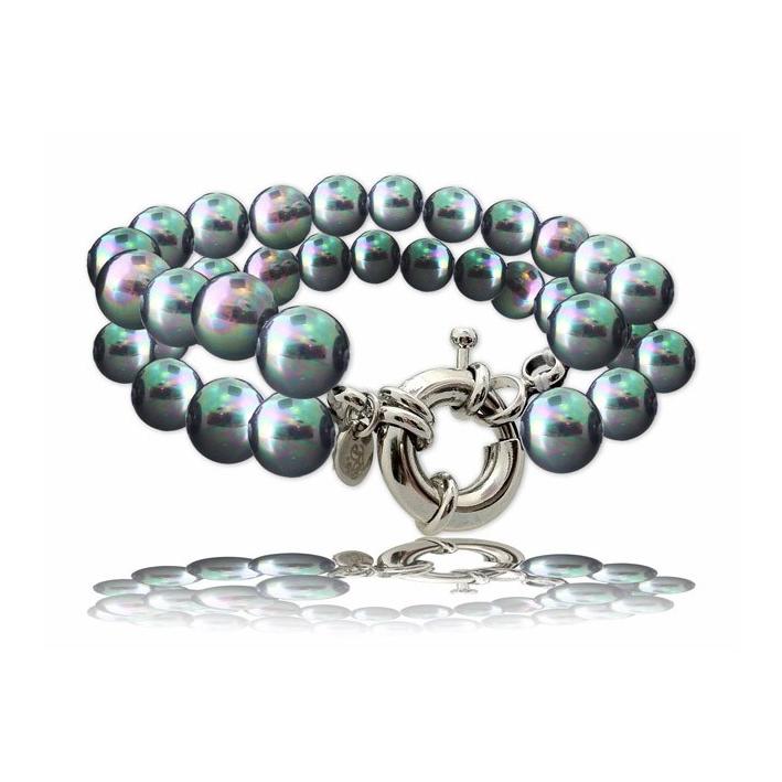 Bracelet Elégance perles de nacre noires
