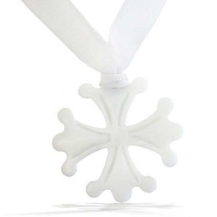 Collier pendentif Petite croix occitane en nacre