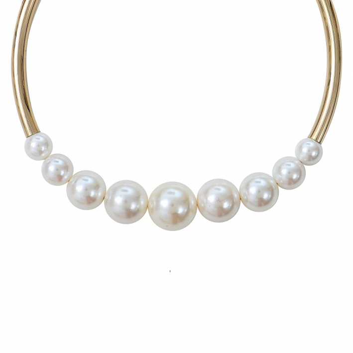 collier perle tube